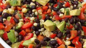 Black-Bean-Salad-with-Corn_-Red-Peppers_-Avocado-_-Lime-Cilantro-Vinaigrette-Once-Upon-A-Chef-200014-39853.730x410